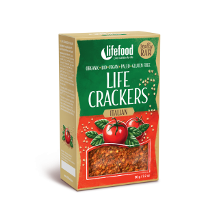 LIFE CRACKERS Italské RAW BIO 90 g