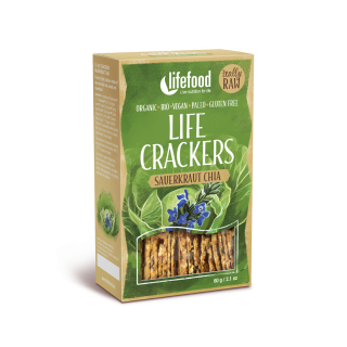 LIFE CRACKERS Zelánky RAW BIO 60 g