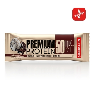Premium protein bar - Cookies cream 50 g